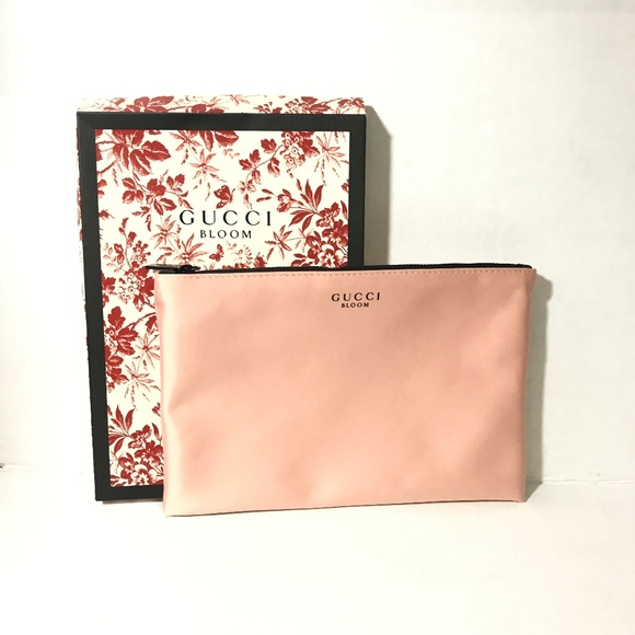 bd386db9ddc Gucci Bloom Make up bag cosmetic case pink New